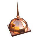EJMCopper Dome Roof w/Finial
